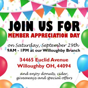 Join us for Willoughby Member Appreciation Day!