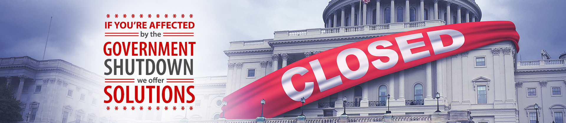 Affected by Government Shutdown? We can help. Call us at 440.266.2200