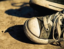 Photo of a child's shoes